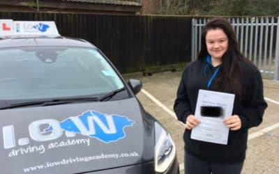 Tash passes 1st Time with the IOWDA