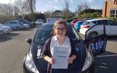 Grace passes with only 5 driving faults.